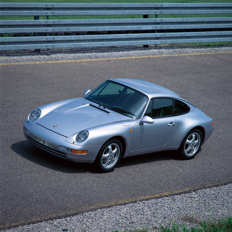 Porsche 993, den sista luftkylda 911-generationen (1994-97).