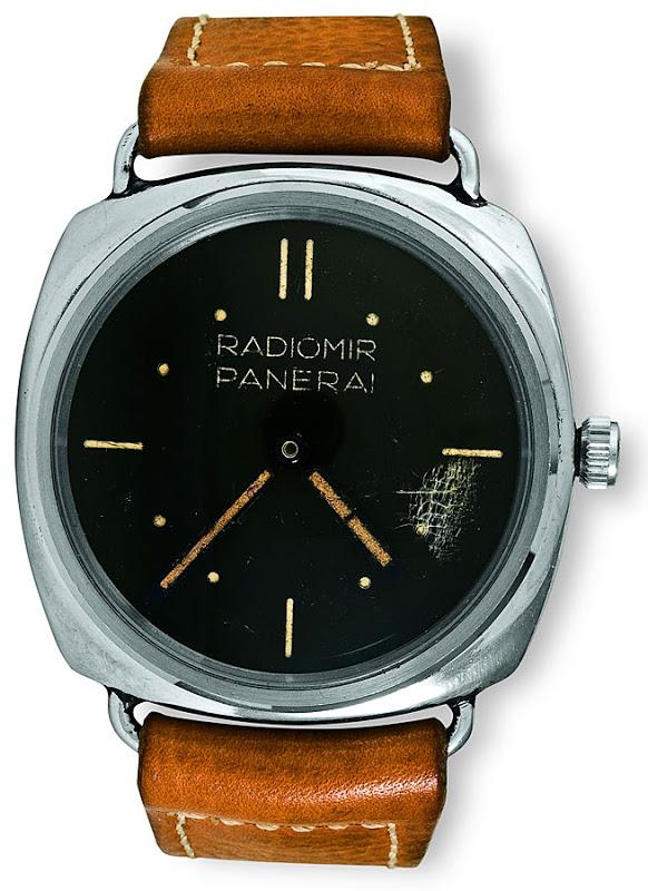 Den första Panerai-klockan, här prototypen från 1936.