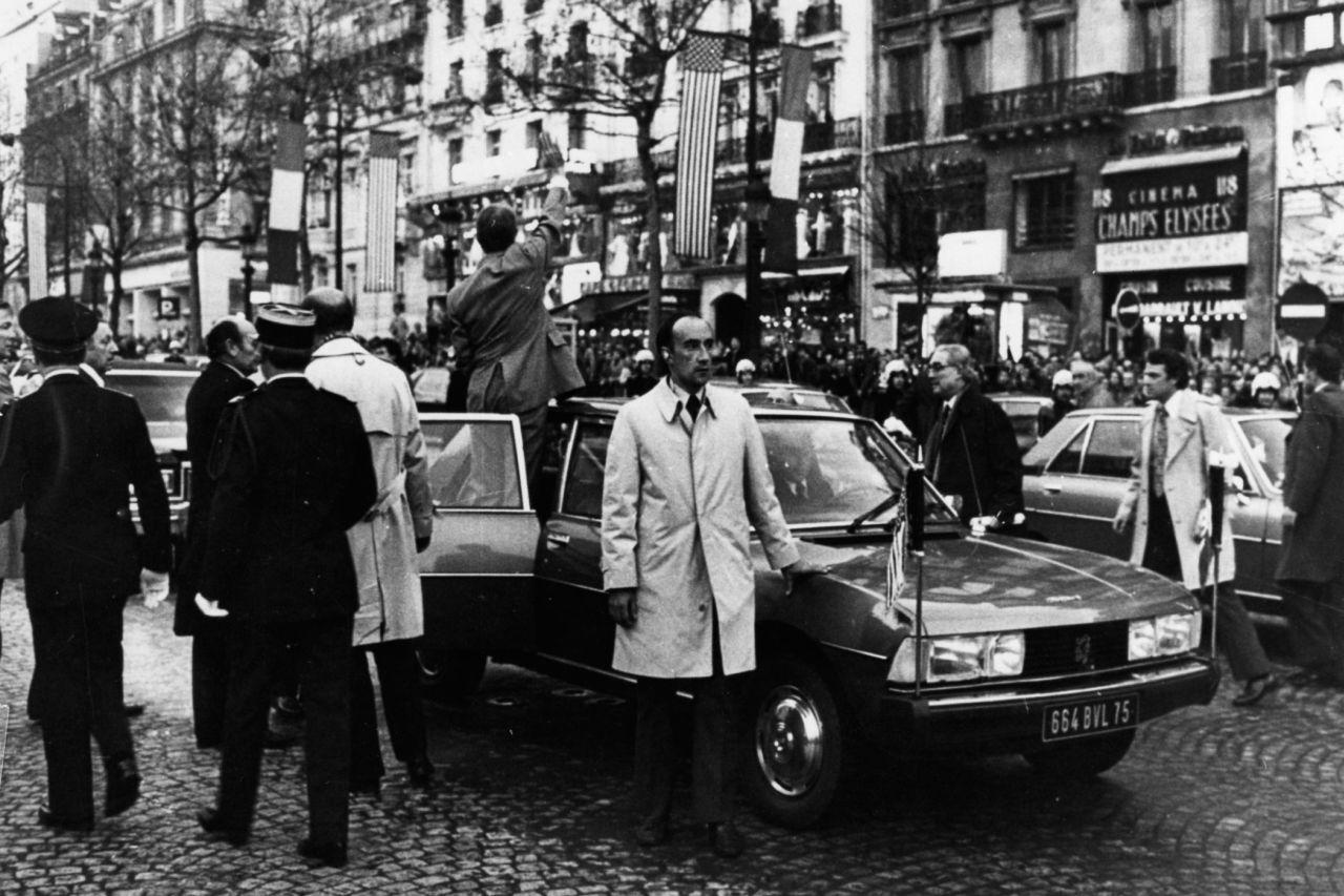 Peugeot 604 Staatsbesuch US Präsident Carter bei Frankreichs Präsident Estaing 1978