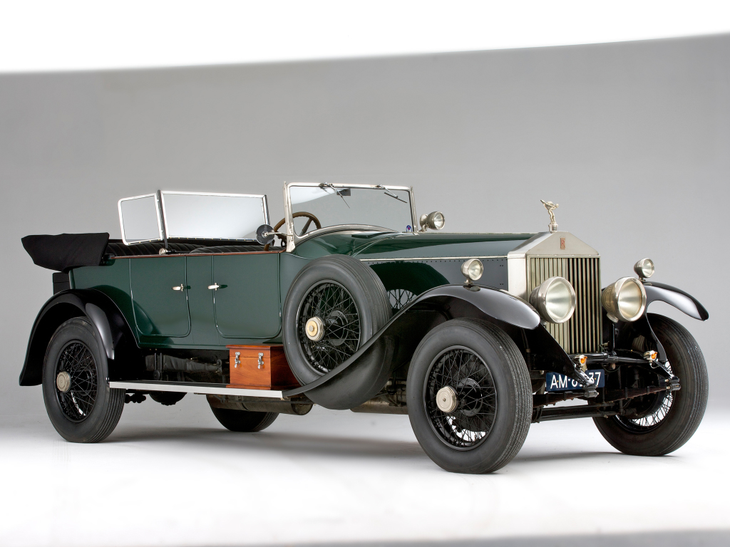 Rolls Royce Phantom I från 1925. Ersatte märkets första bil, Silver Ghost, och innebar ännu en succé för det aristokratiska märket.